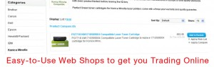Simple Easy to Use Web Shops to Trade Online