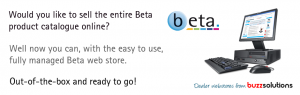 Sell the entire Beta product catalogue with the beta webstore